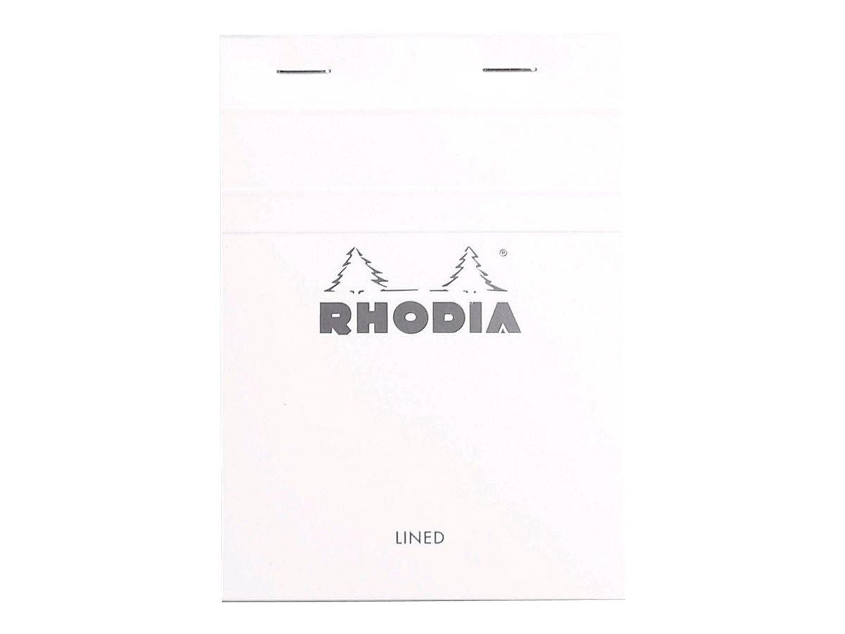 Rhodia Basics - Bloc notes N°13 - 10 x 15 cm - 160 pages - petits carreaux - 80g - blanc