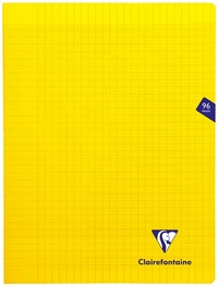 Clairefontaine Mimesys - Cahier polypro 24 x 32 cm - 96 pages - grands carreaux (Seyes) - jaune