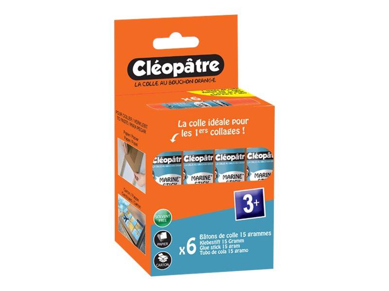 Cléopâtre Cléostick - 6 bâtons de colle marine - 15 gr