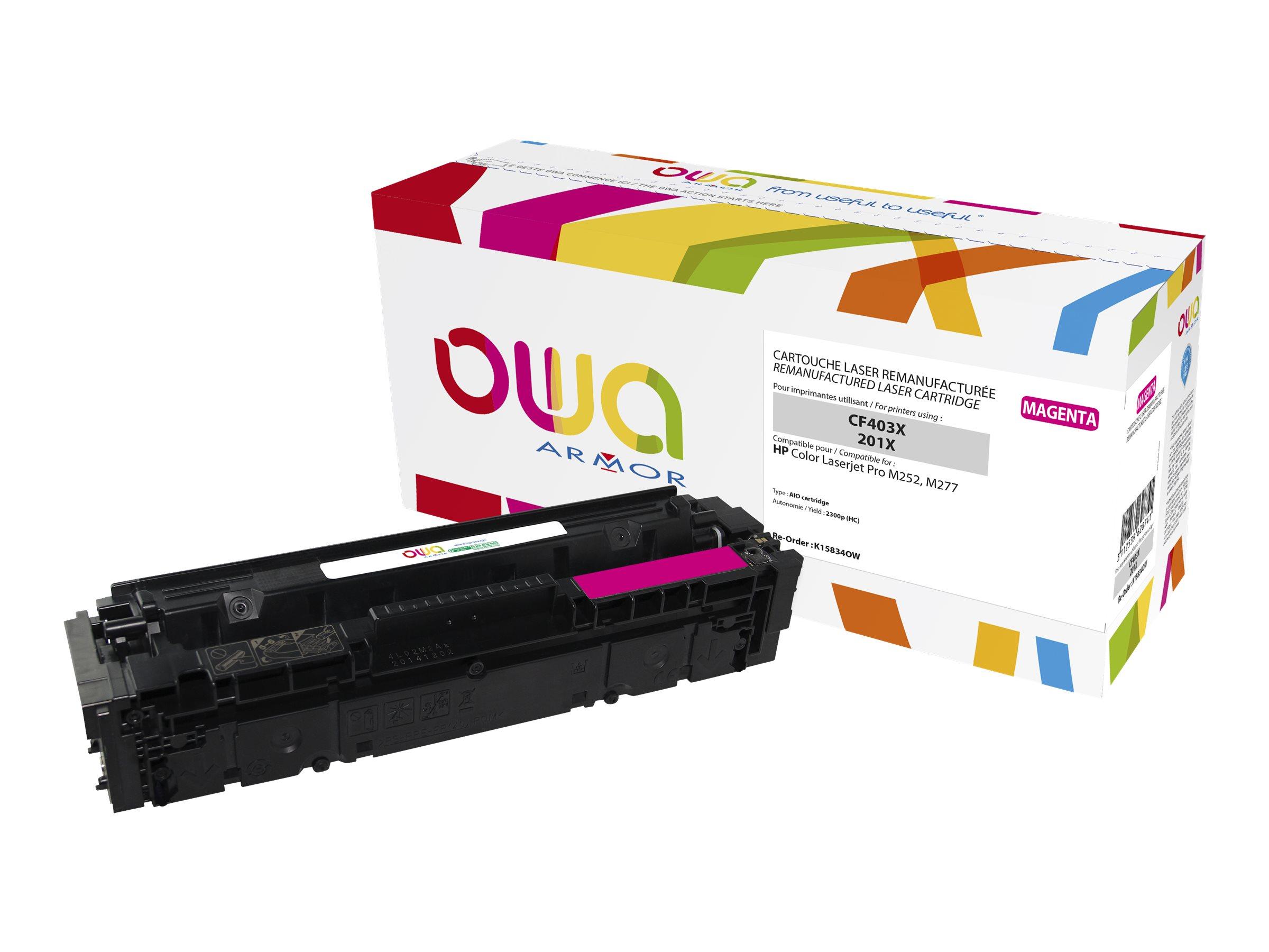 Owa K15834OW cartouche équivalente HP 201X - magenta