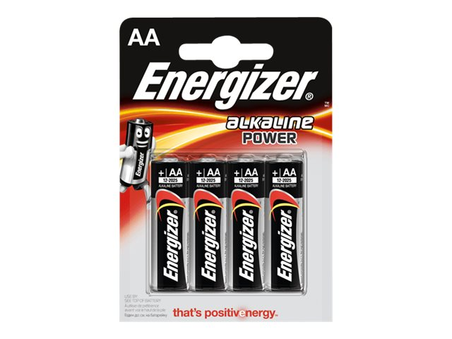 ENERGIZER Power - 4 piles alcalines - AA LR06