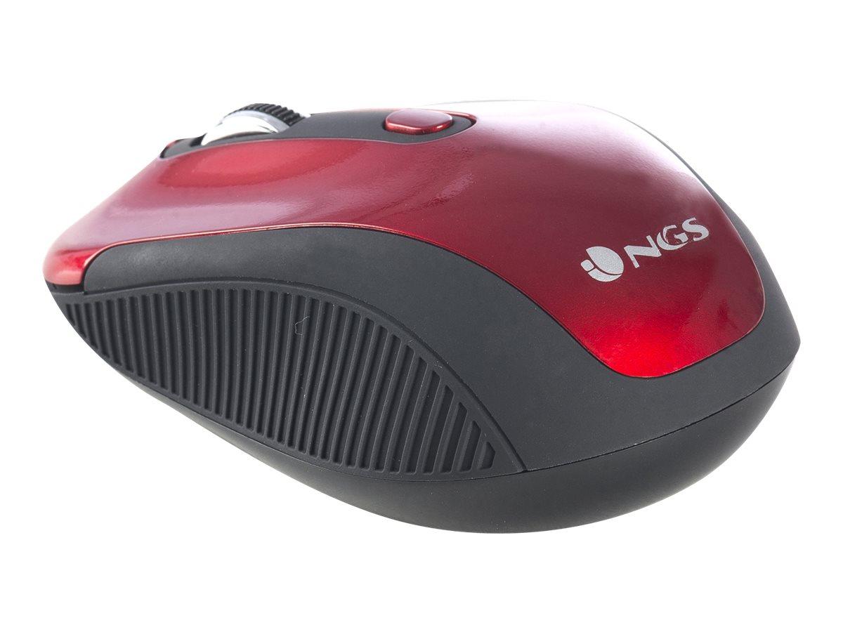 NGS Haze - souris sans fil - rouge