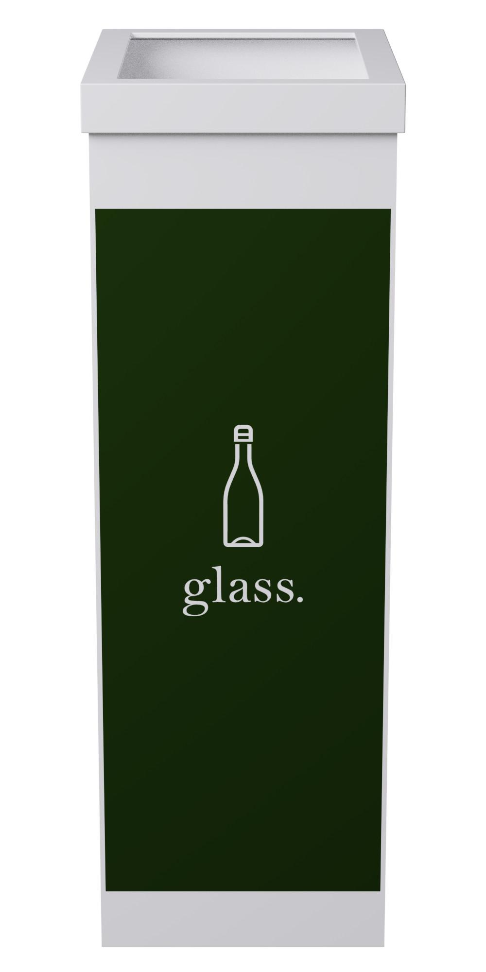 Corbeille de tri sélectif pour le verre