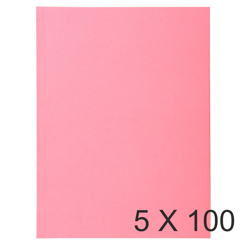 Exacompta Super 160 - 5 Paquets de 100 Chemises - 160 gr - rose
