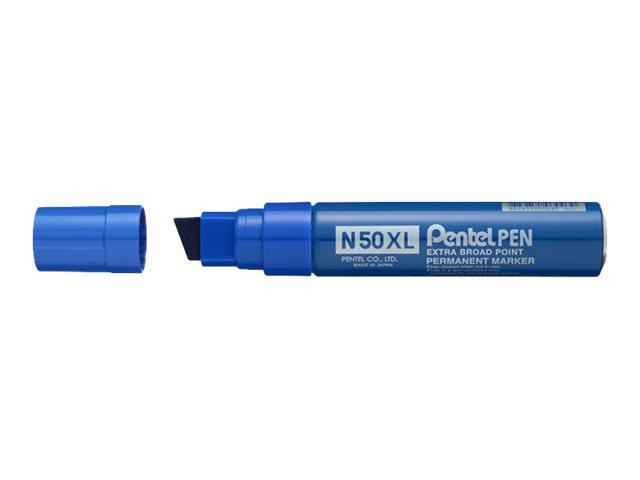 Pentel PEN N50 XL - Marqueur permanent - pointe biseau large - bleu