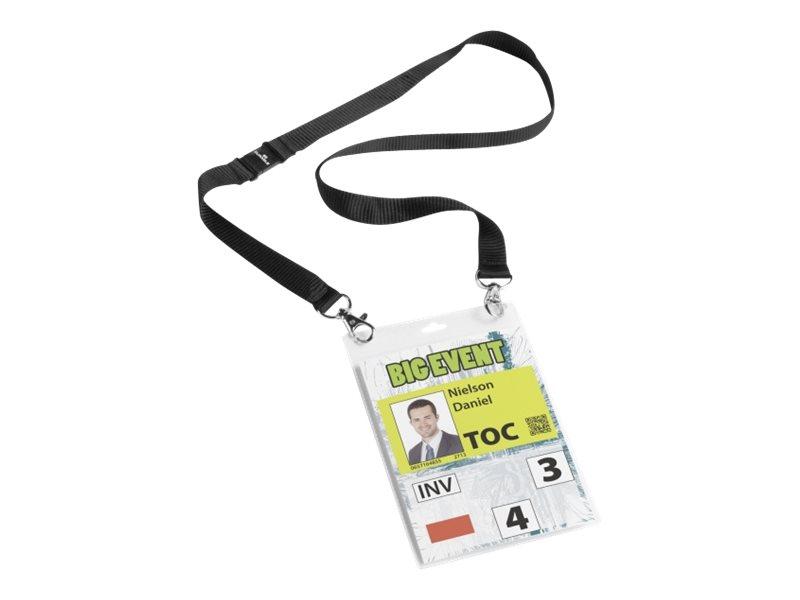 Durable - 10 Portes badge événementiel A6 - avec lacet textile
