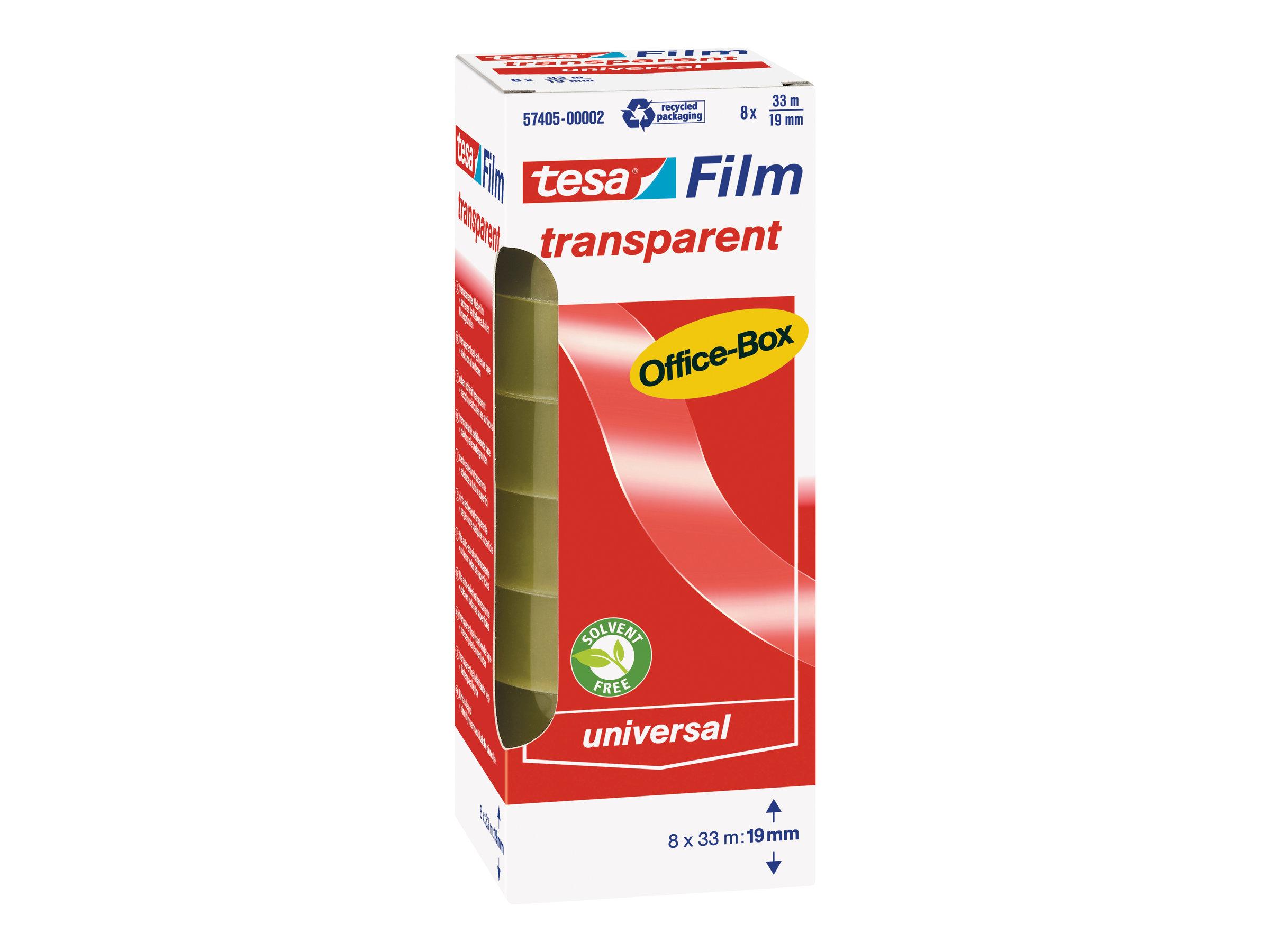 Tesafilm - Adhésif transparent - tour de 8 rouleaux - 19 mm x 33 m