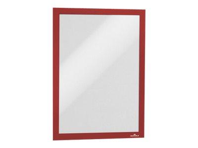 Durable Duraframe - Cadre d'affichage adhésif - A4 - rouge