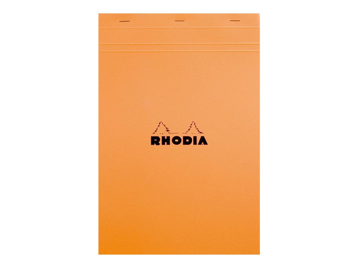 Rhodia - Bloc notes - A4 + - 80 pages - petits carreaux - 80g - orange