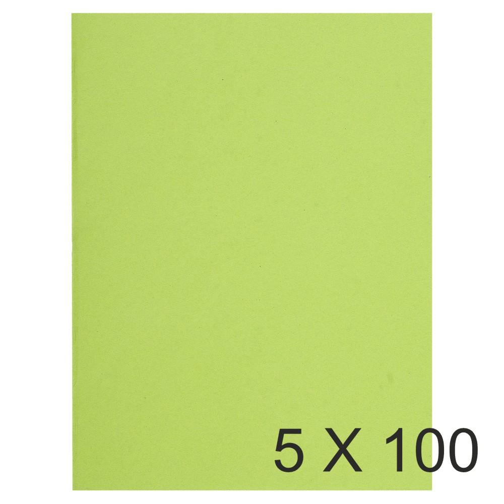 Exacompta Flash - 5 Paquets de 100 Chemises - 220 gr - vert tilleul