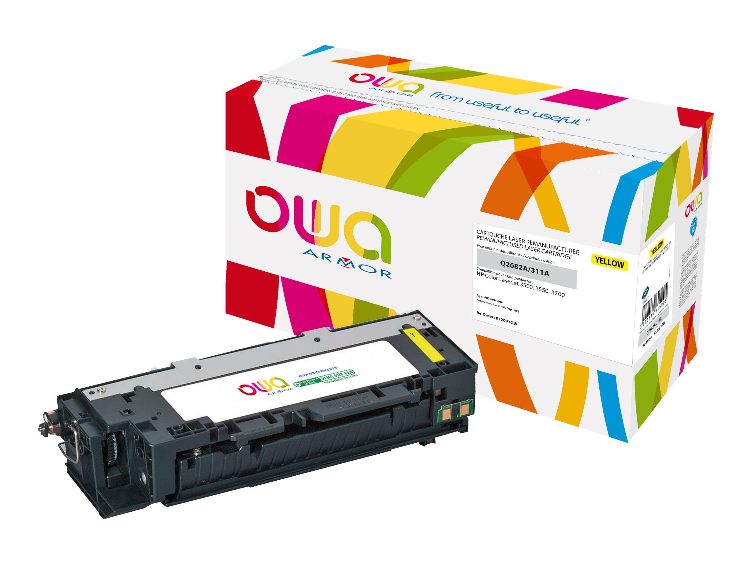 HP 309A - remanufacturé OWA K12091OW - jaune - cartouche laser