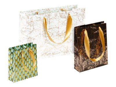 Clairefontaine Eurowrap - Sac cadeau pelliculé ruban satin