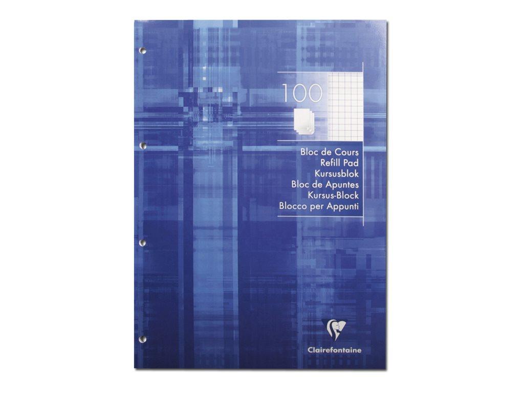 Clairefontaine - Bloc de cours - A4 - 200 pages - petits carreaux (5x5 mm)