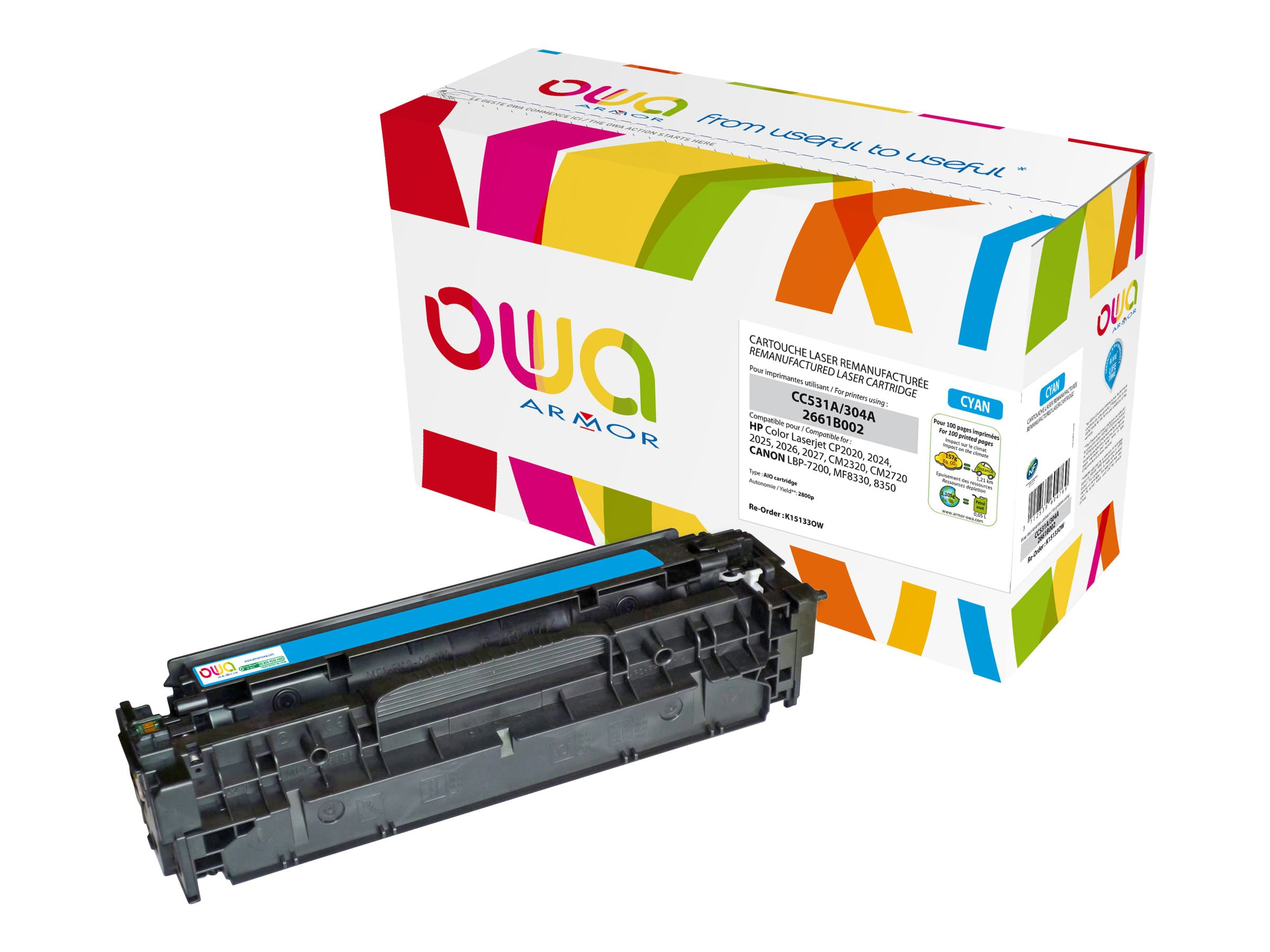 HP 304A - remanufacturé Owa K15133OW - cyan - cartouche laser