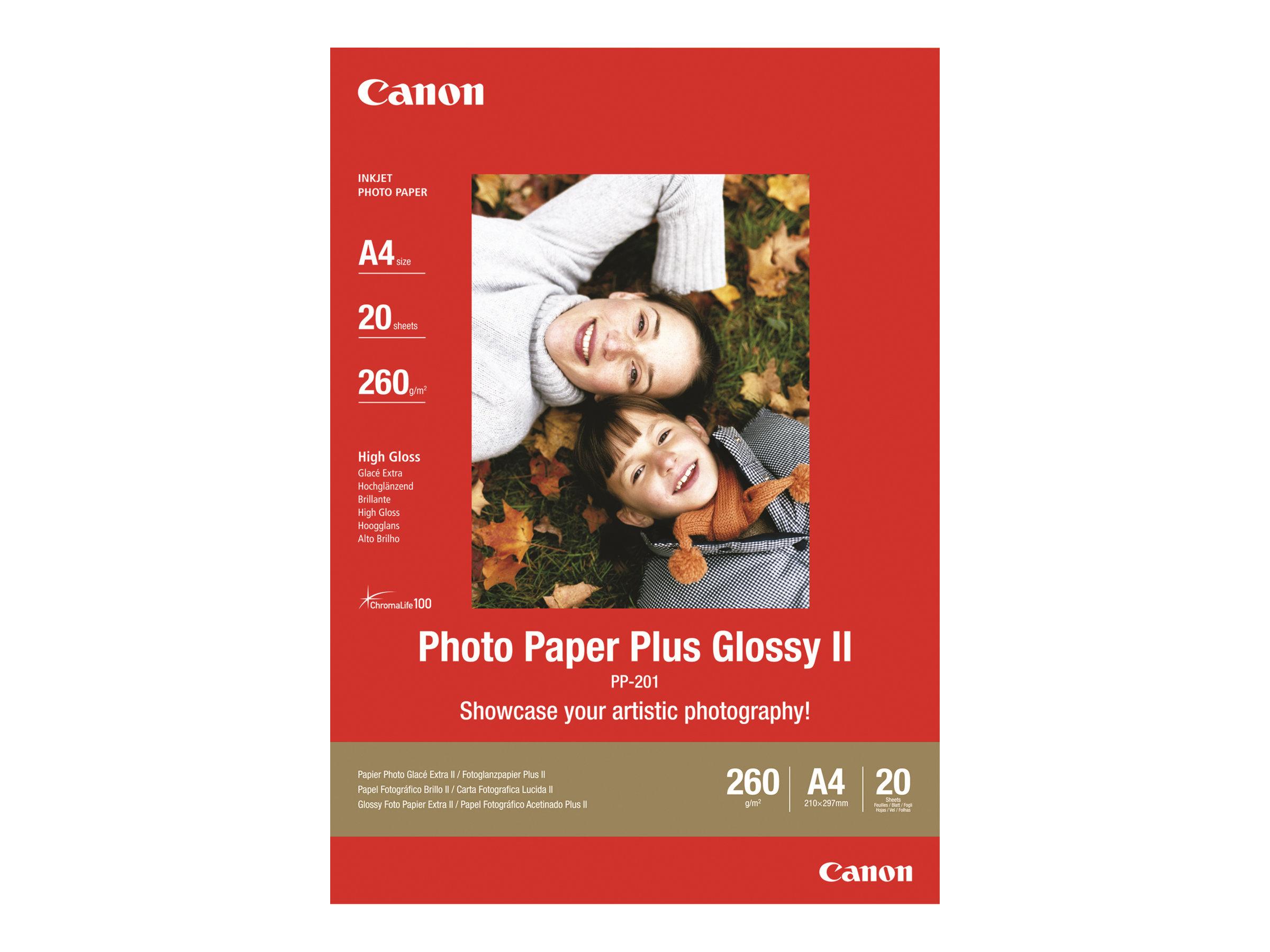Canon PP-201 - Papier photo brillant - A4 - 260 g/m² - 20 feuilles