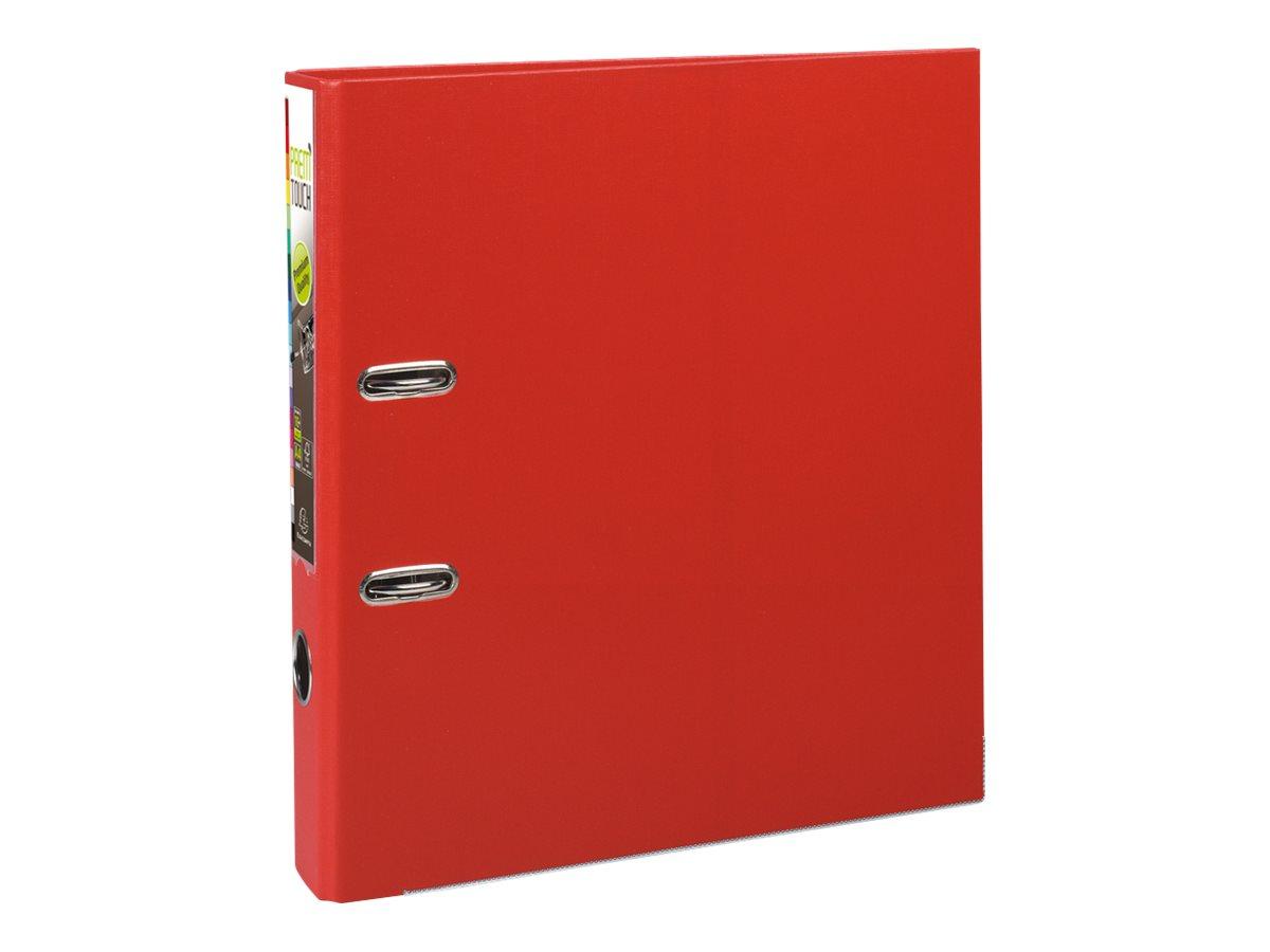 Exacompta Prem'Touch - Classeur à levier - Dos 50 mm - A4 Maxi - pour 400 feuilles - rouge