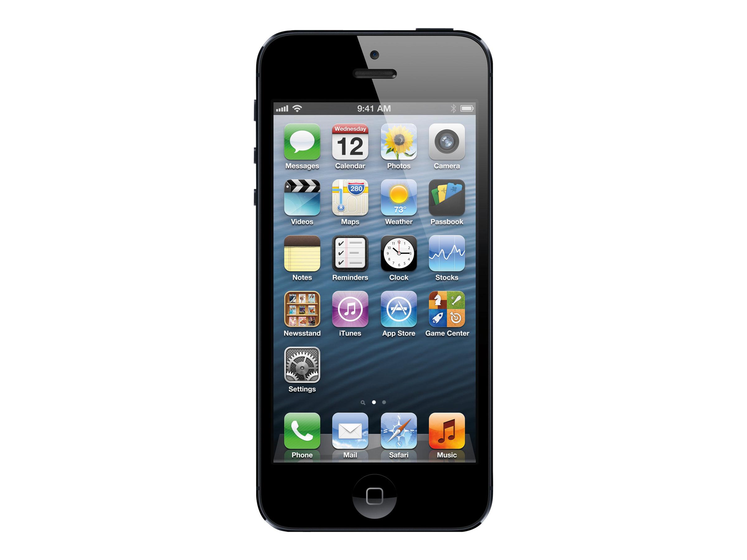 Apple iPhone 5 - noir et ardoise - 4G LTE - 16 Go - GSM - smartphone
