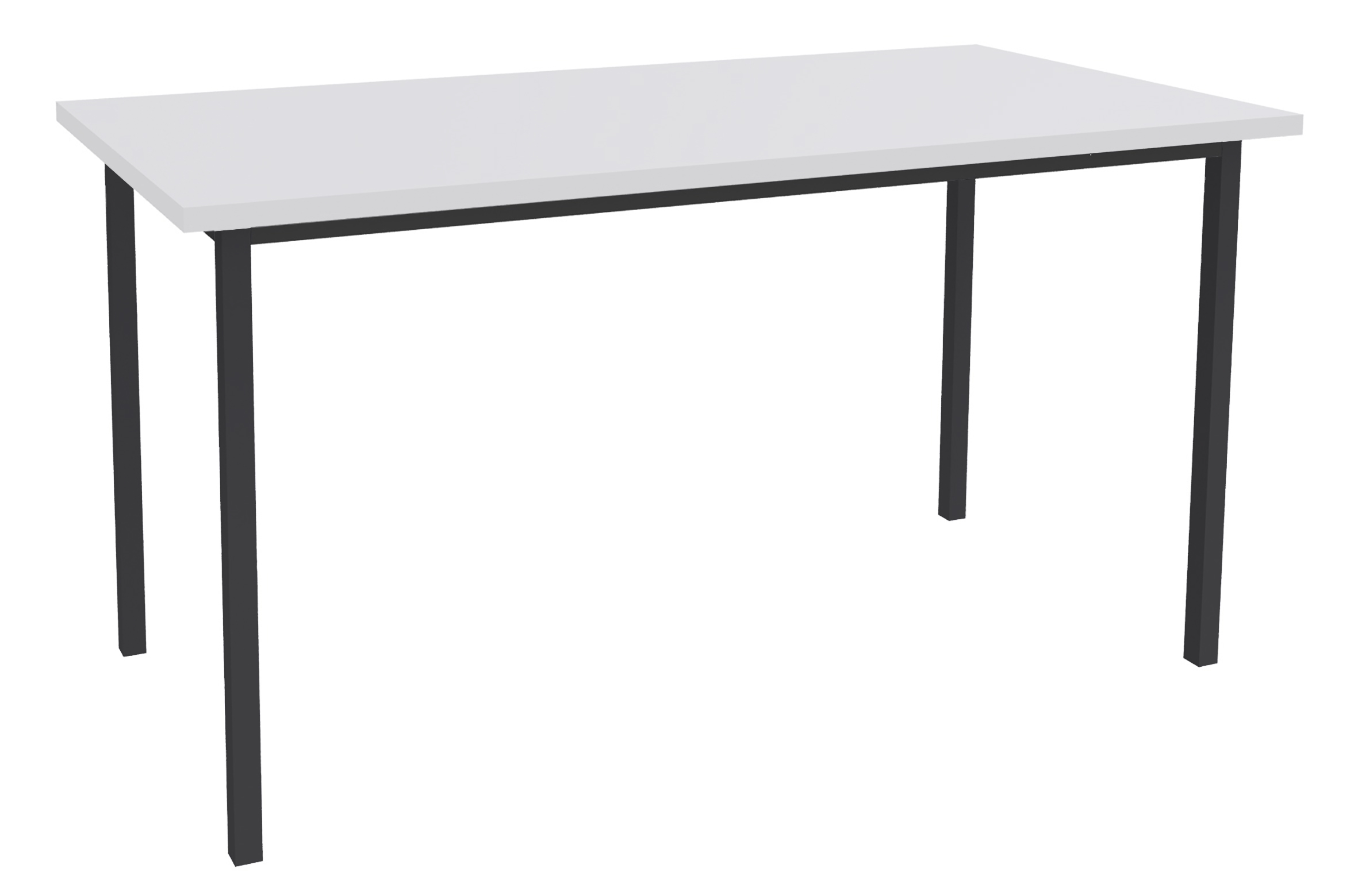 Table de réunion Rectangulaire - 160 x 80 cm - Pieds anthracite - blanc perle