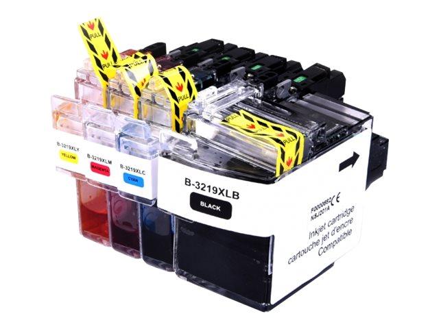 Brother LC3219XL - compatible UPrint B.3219XL - Pack de 4 - noir, cyan, magenta, jaune - cartouche d'encre