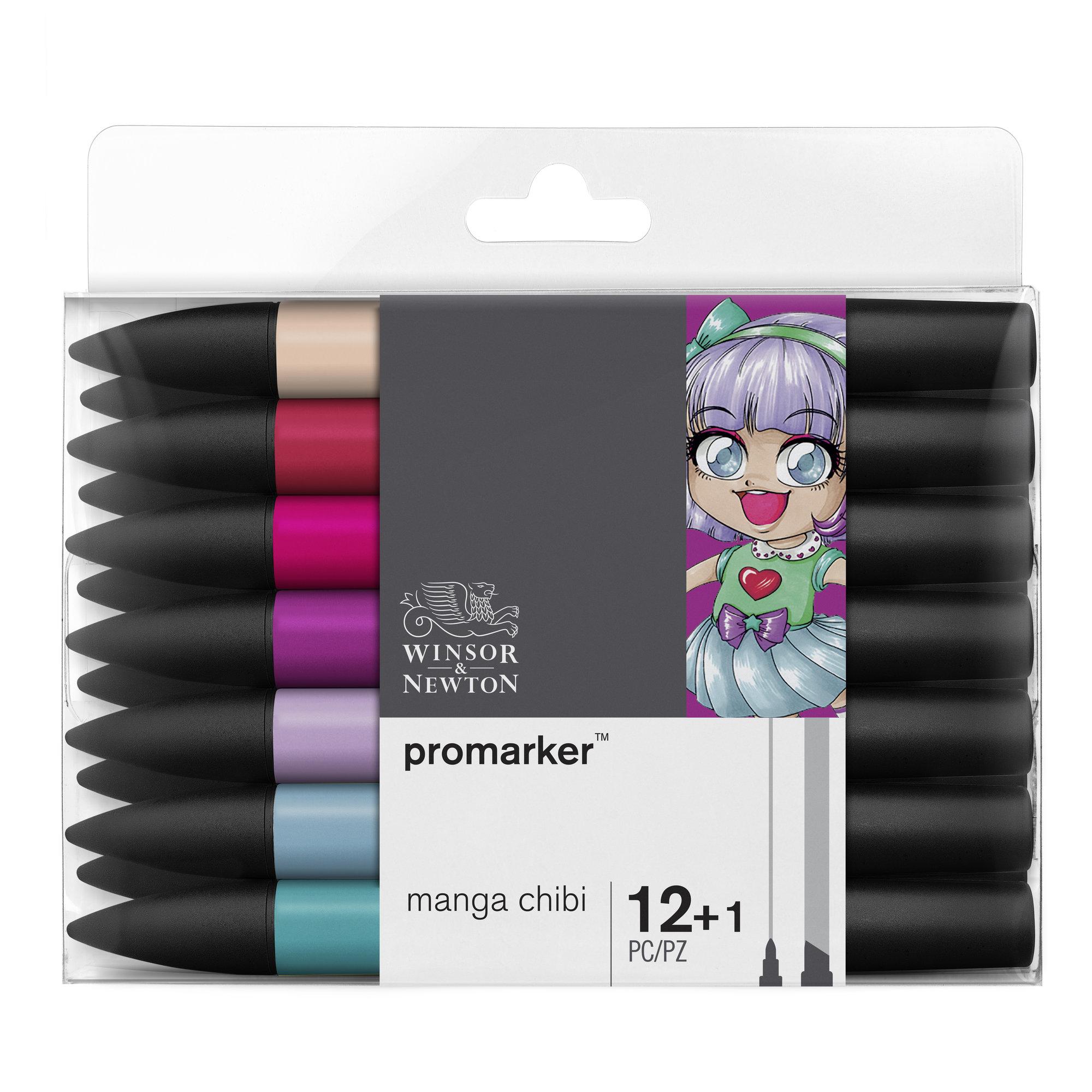 ProMarker - Pack de 13 marqueurs double pointe - manga chibi