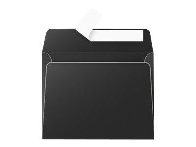 Pollen - 20 Enveloppes - 90 x 140 mm - 120 g/m² - noir