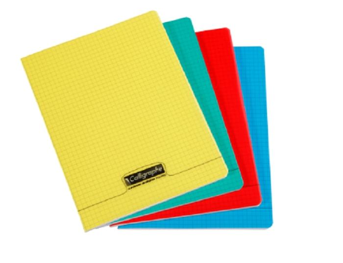 Calligraphe 8000 - Cahier polypro A4 (21x29,7 cm) - 96 pages - petits carreaux (5x5 mm) - disponible dans différentes couleurs