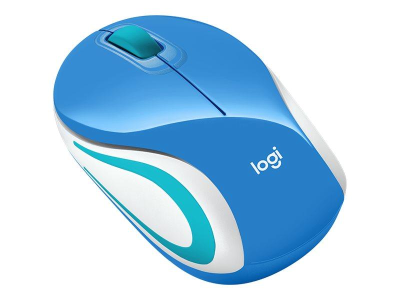 Logitech M187 - Mini souris sans fil - bleue