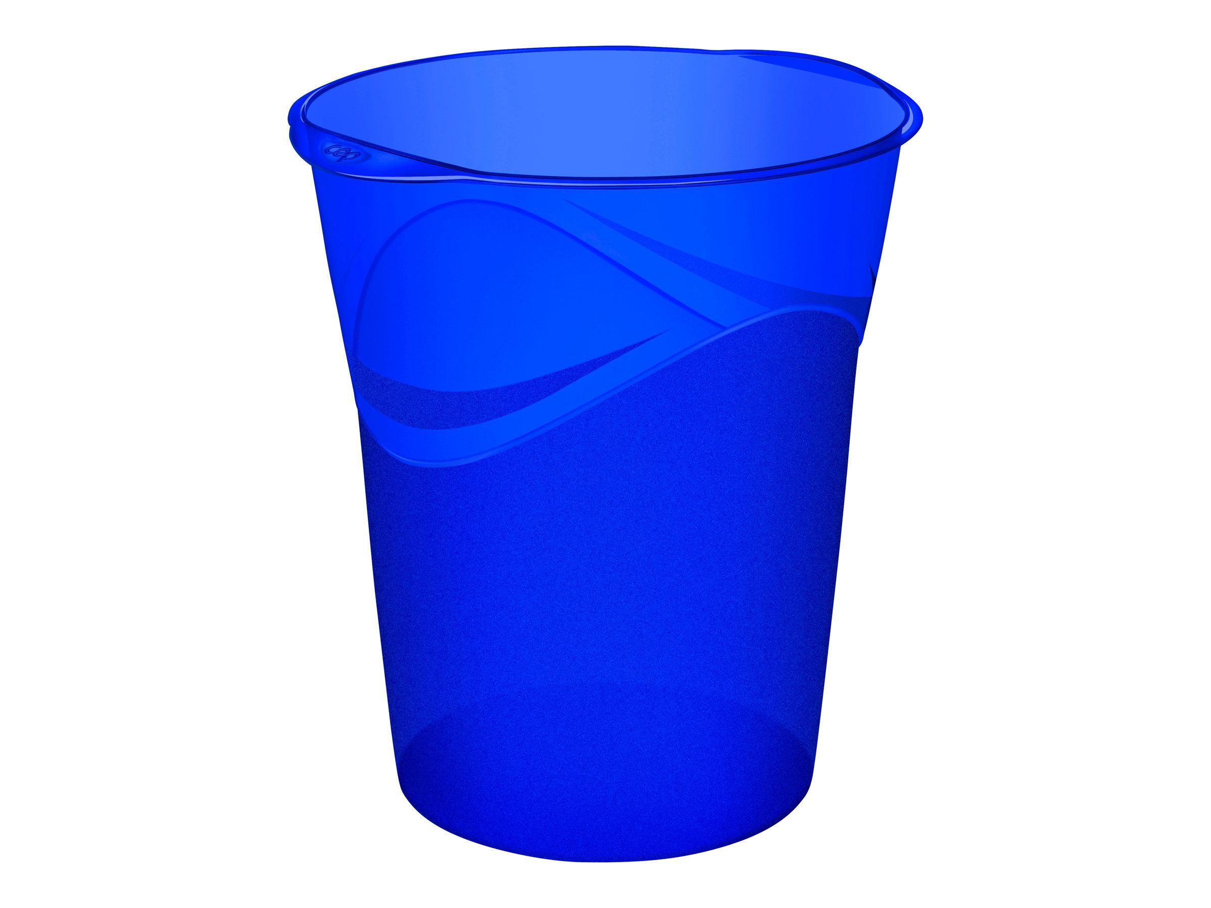 CEP Happy - Corbeille à papier 14L - bleu électrique