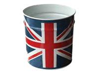 Pierre Henry - Corbeille à papier - 12 l - métal - Drapeau du Royaume- Uni
