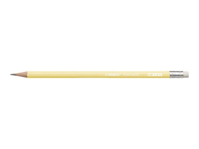 STABILO - Crayon à papier - HB - jaune pastel - embout gomme