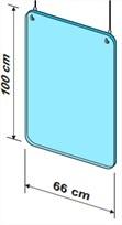 Exacompta - Vitre de protection à suspendre - 99 x 66 cm