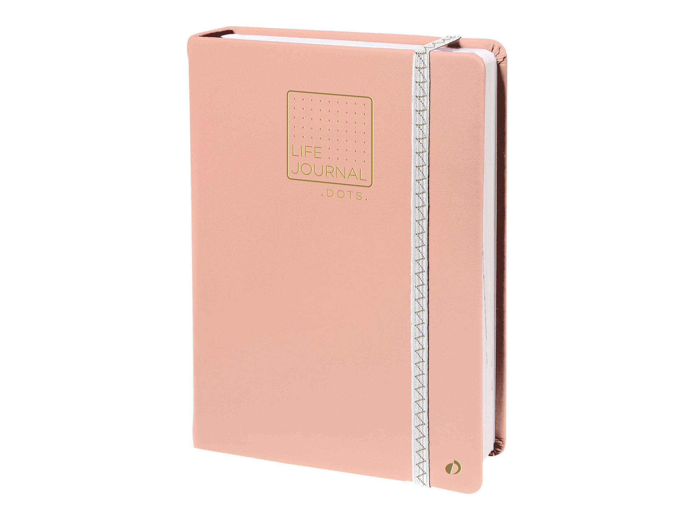 Quo Vadis Life Journal - Carnet de notes 15 x 21 cm - pointillés - rose corail