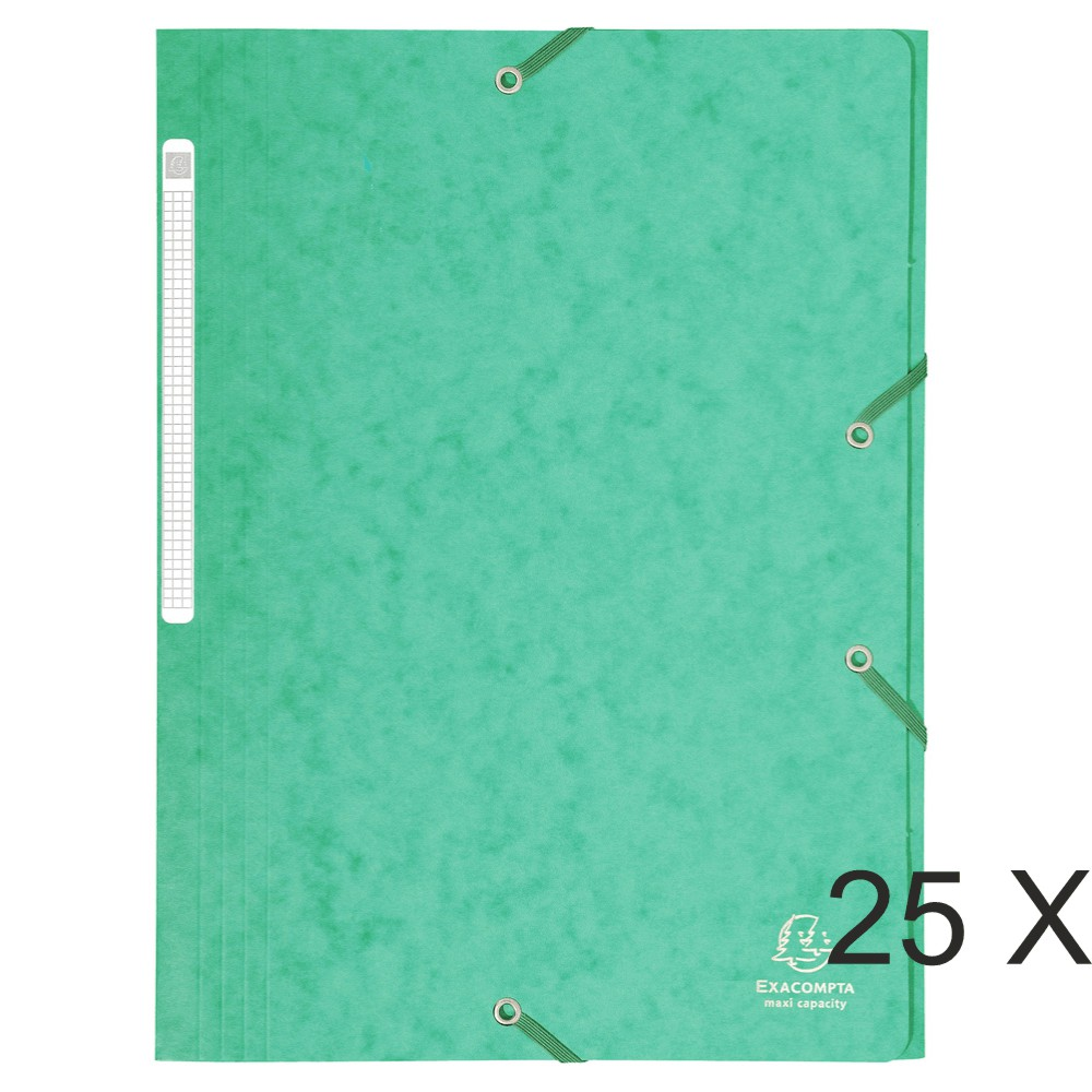 Exacompta - 25 Chemises à rabats maxi capacity - vert