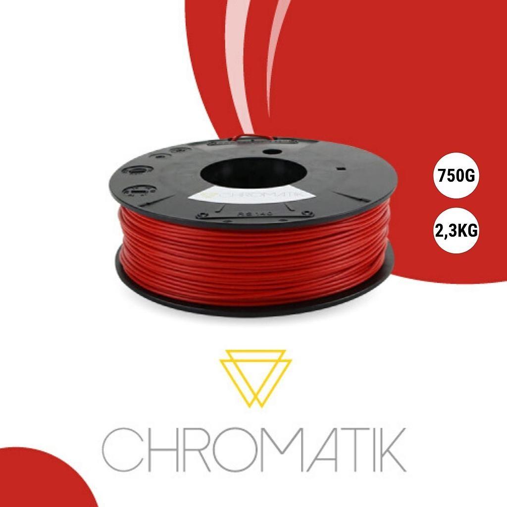 Dagoma Chromatik - filament 3D PLA - rouge pompier - Ø 1,75 mm - 750g