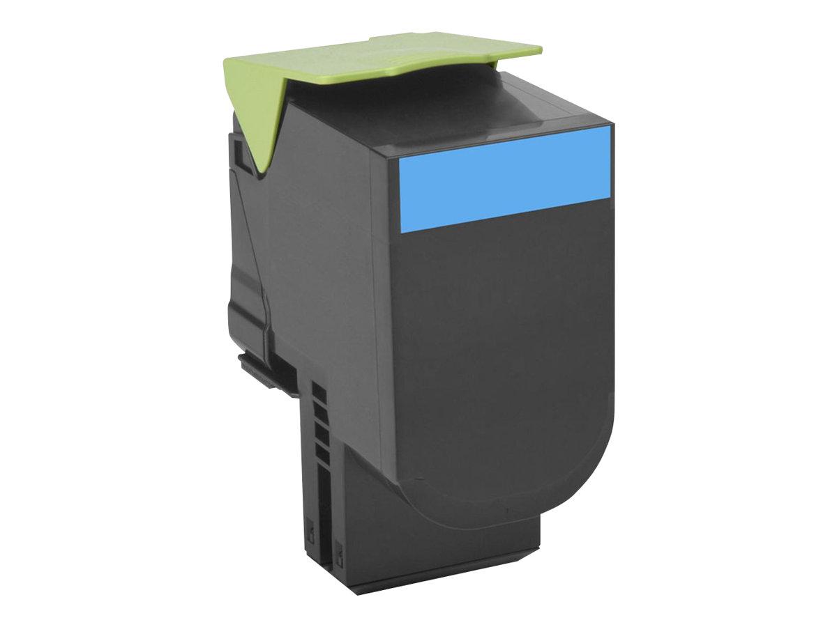 Lexmark 802X - cyan - cartouche laser d'origine