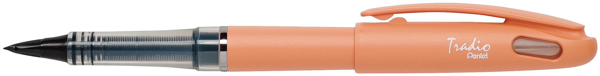 Pentel Tradio Pastel - Feutre plume - corps orange
