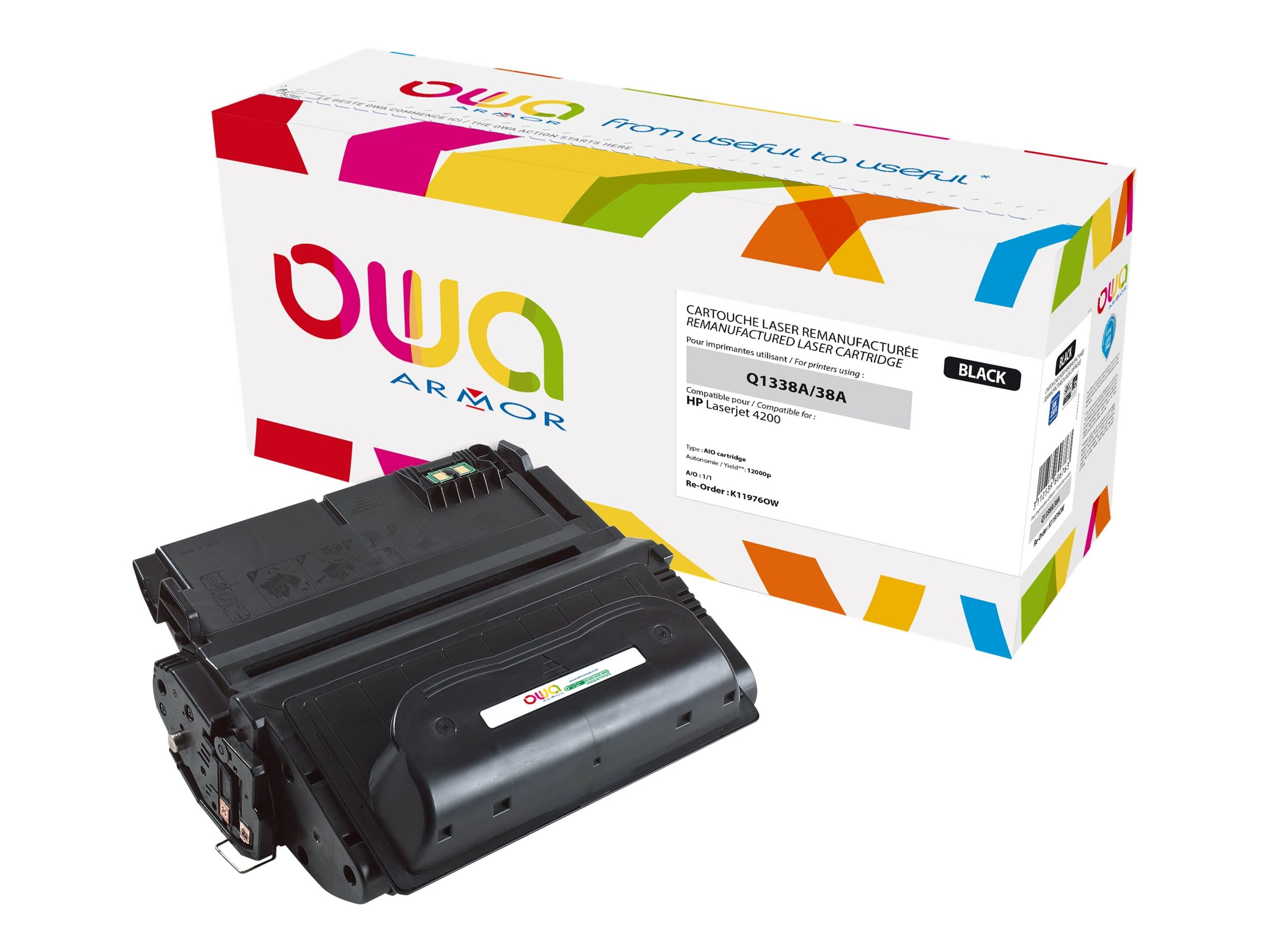 HP 38A - remanufacturé Owa K11976OW - noir - cartouche laser