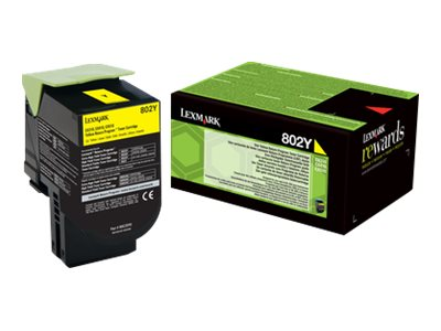 Lexmark 802Y - jaune - cartouche laser d'origine