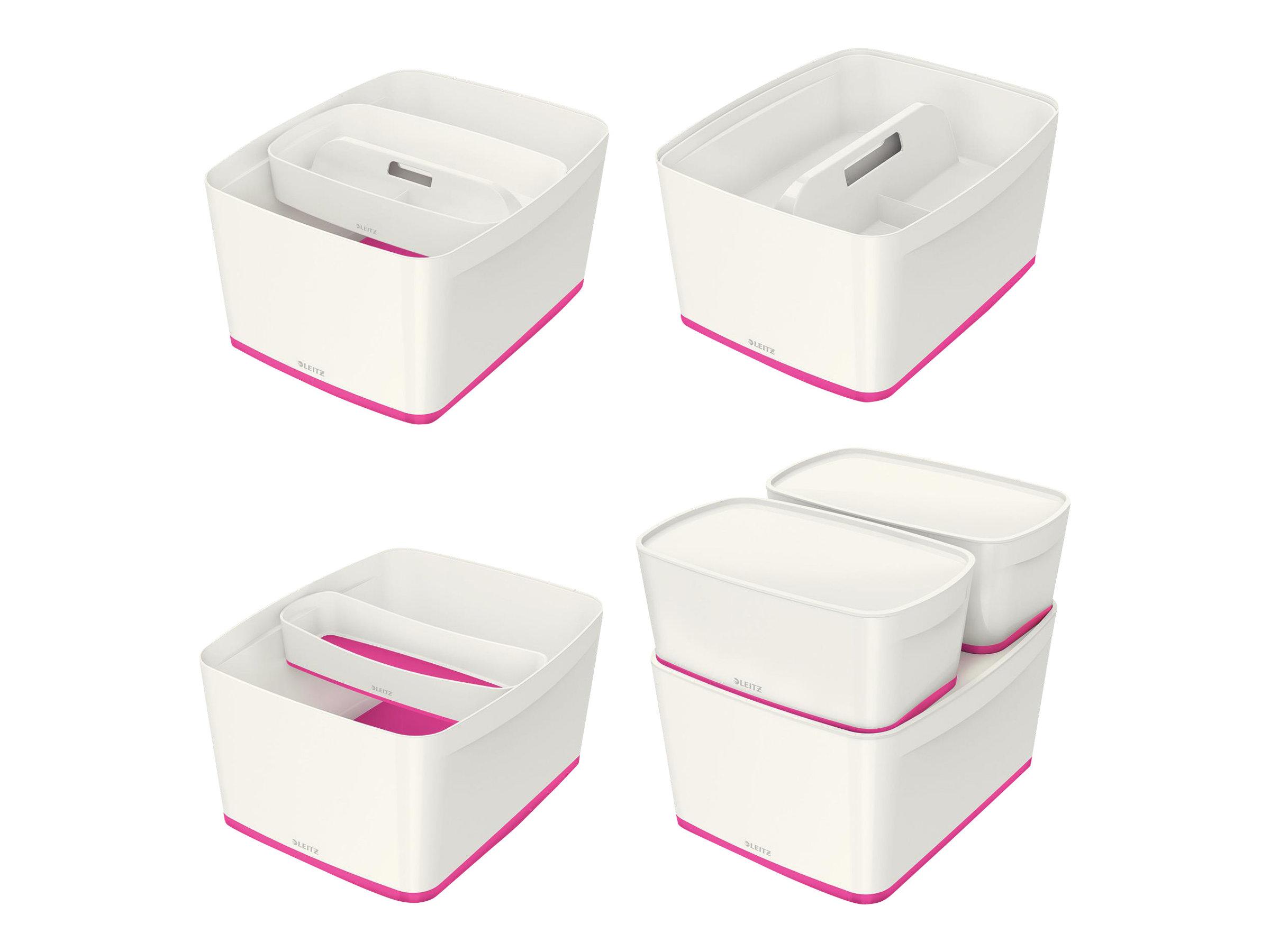 Leitz MyBox - Boîte de rangement format moyen - blanc/rose