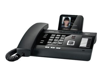 Gigaset DL500A - téléphone sans fil - avec répondeur - noir