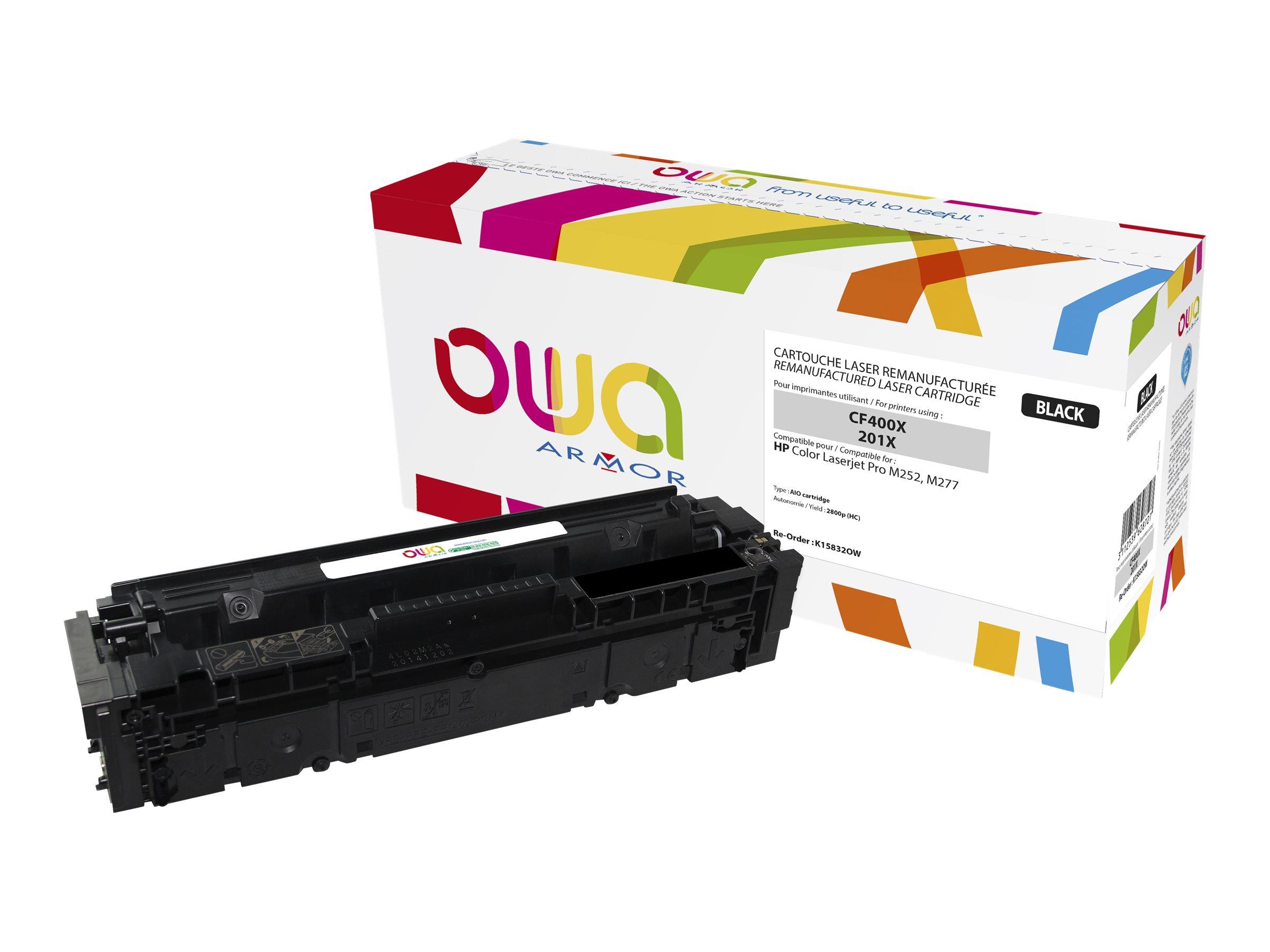 Owa K15832OW cartouche équivalente HP 201X - noir