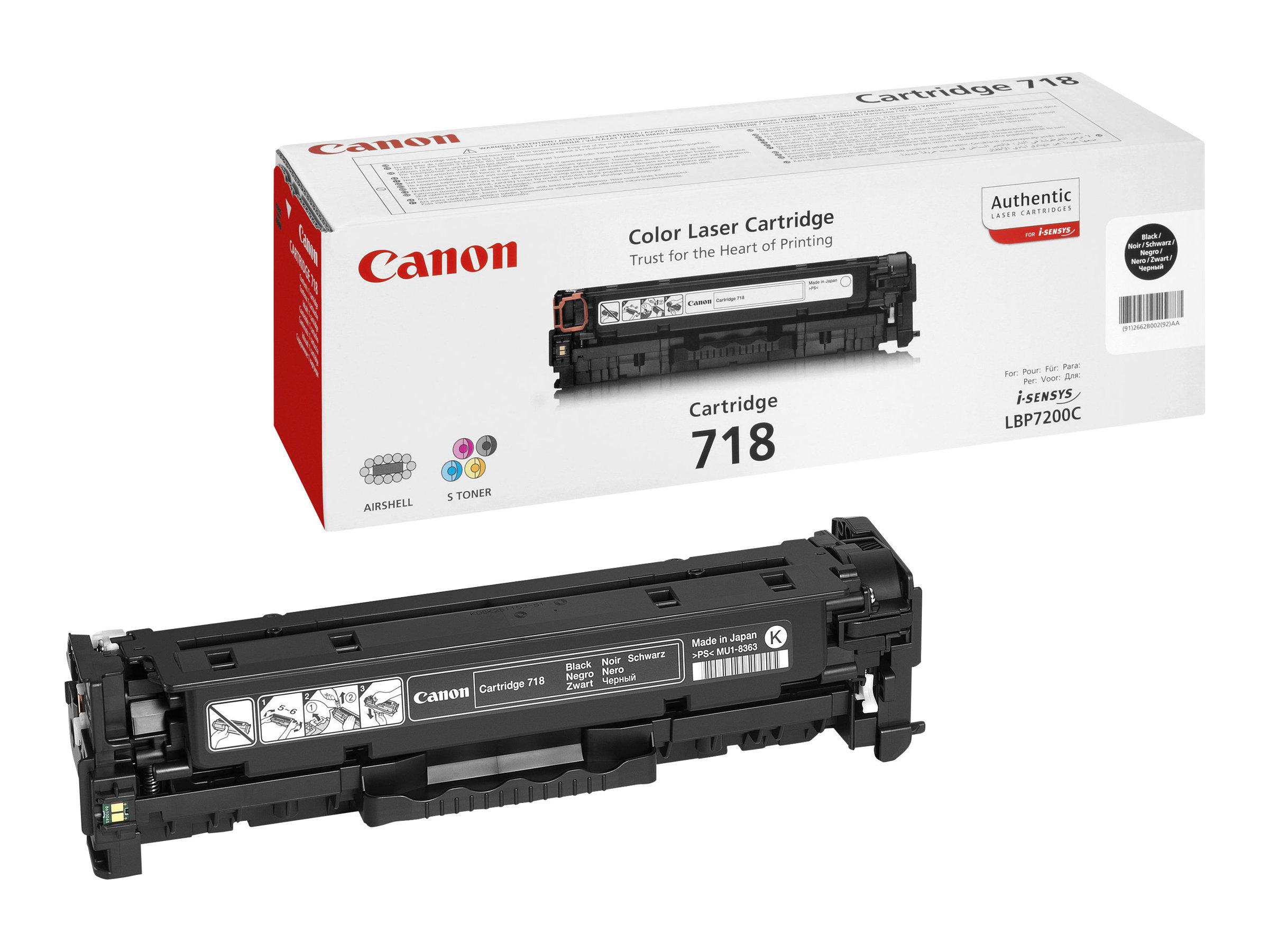 Canon 718 - Pack de 2 - noir - cartouche laser d'origine
