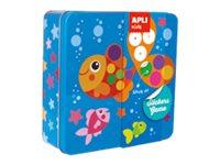 APLI Kids Jeu de gommes polaires dans bo/îte m/étallique multicolore 13950 carr/é