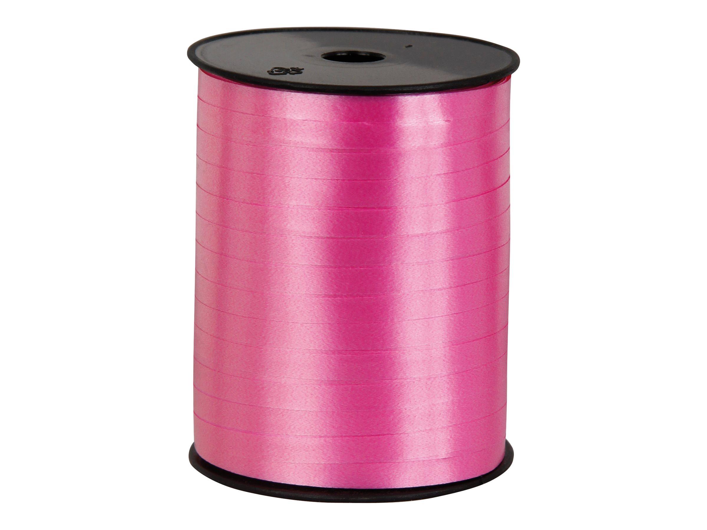 Logistipack - Bolduc brillant - ruban d'emballage 7 mm x 500 m - rose