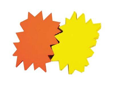 Apli Agipa - 50 éclatés fluo - jaune/orange - 8 x 12 cm