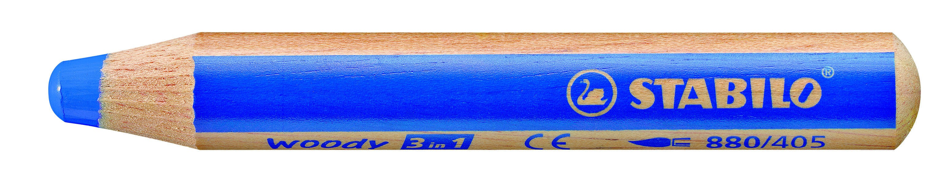 STABILO woody 3 in 1 - crayon de couleur pointe large - bleu d'outremer