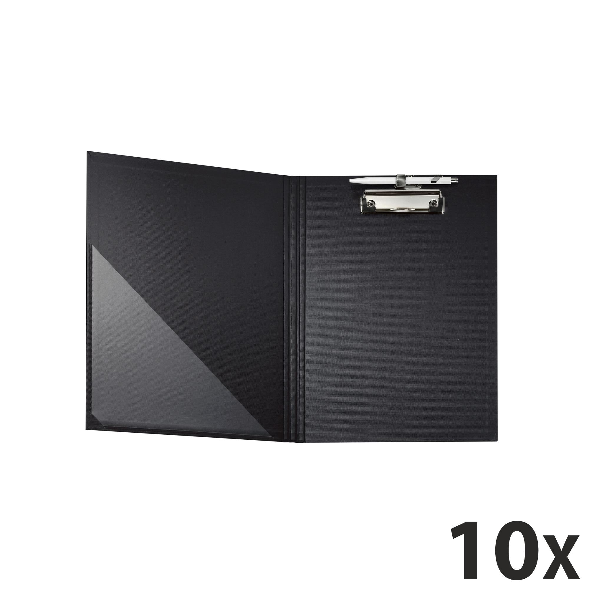 Exacompta - 10 Porte blocs à rabat - A4 - noir