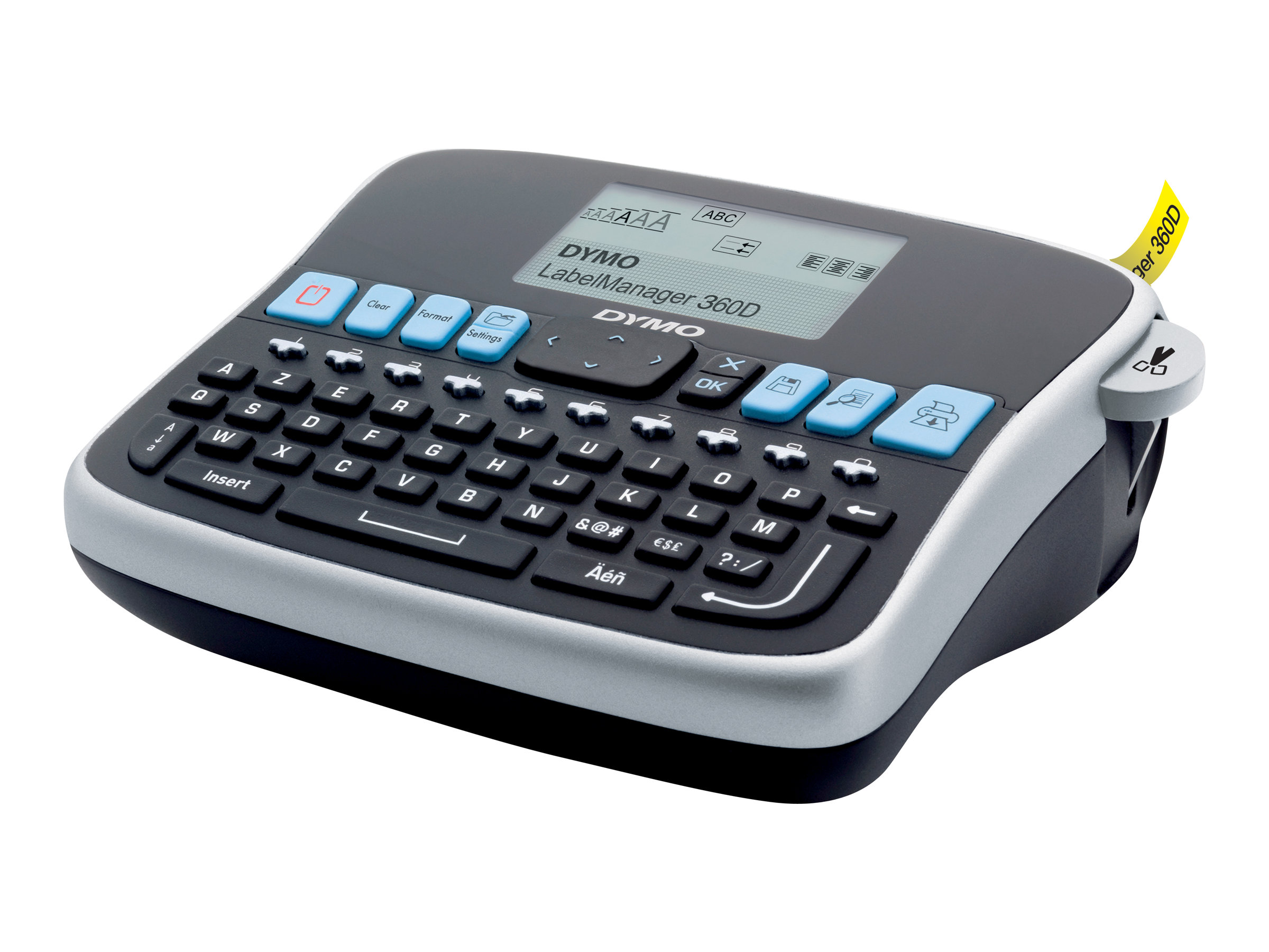 Dymo LabelManager 360D  -  Étiqueteuse  - imprimante d'étiquettes monochrome  - impression par transfert thermique