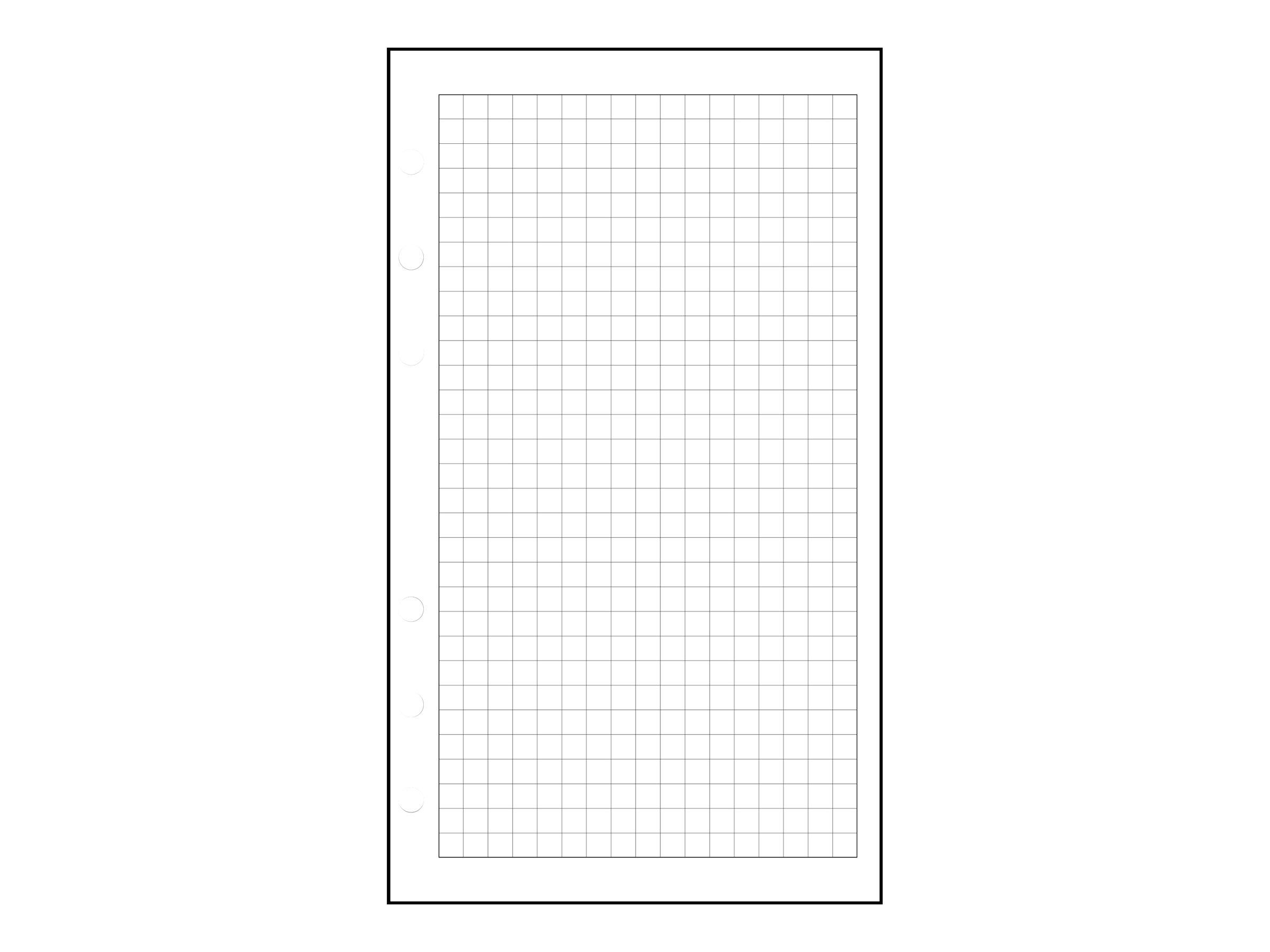 Exacompta Exatime 17 - Recharge pour organiseur - 44 feuilles quadrillées 5x5 - 10,5 x 17,2 cm