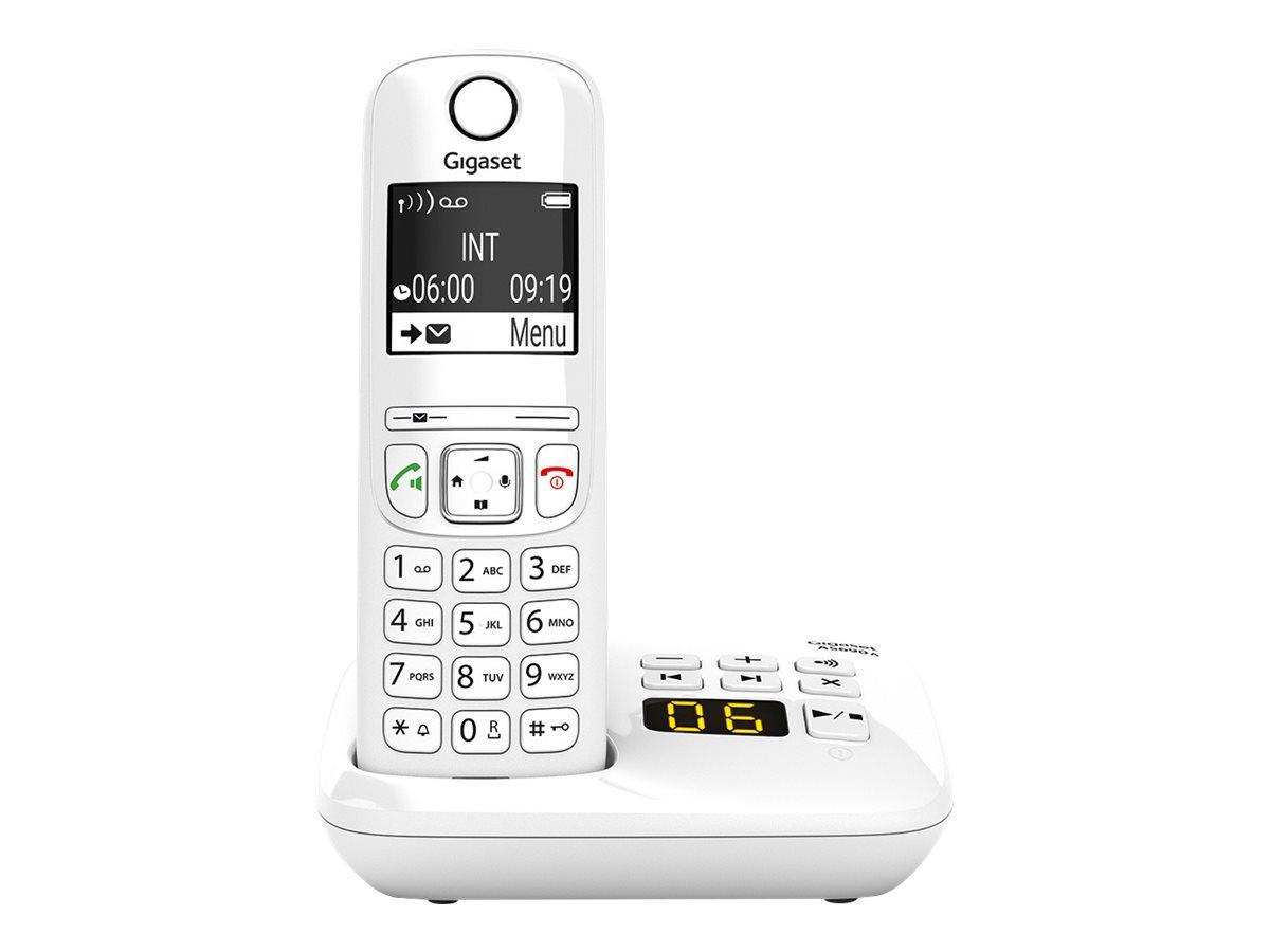 Gigaset AS690A - téléphone sans fil - avec répondeur - blanc